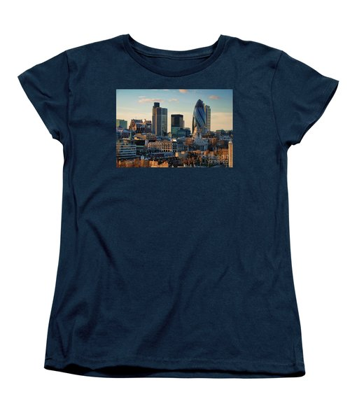 Women's T-Shirt (Standard Cut) featuring the photograph London City Of Contrasts by Lois Bryan