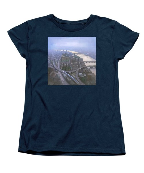 London, Looking West From The Shard Women's T-Shirt (Standard Cut) by Steve Mitchell