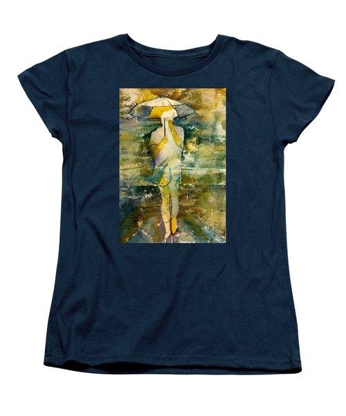 London Rain Theme Women's T-Shirt (Standard Cut) by Debbie Lewis