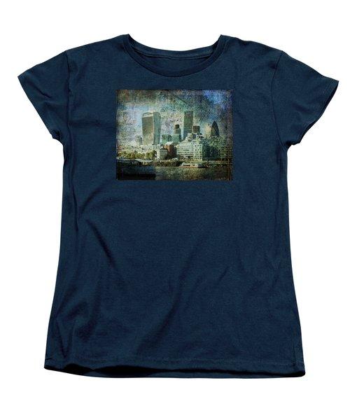 London Skyline Key Of Blue Women's T-Shirt (Standard Cut) by Nicky Jameson