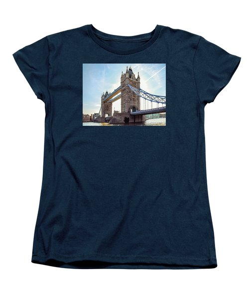 Women's T-Shirt (Standard Cut) featuring the photograph London - The Majestic Tower Bridge by Hannes Cmarits
