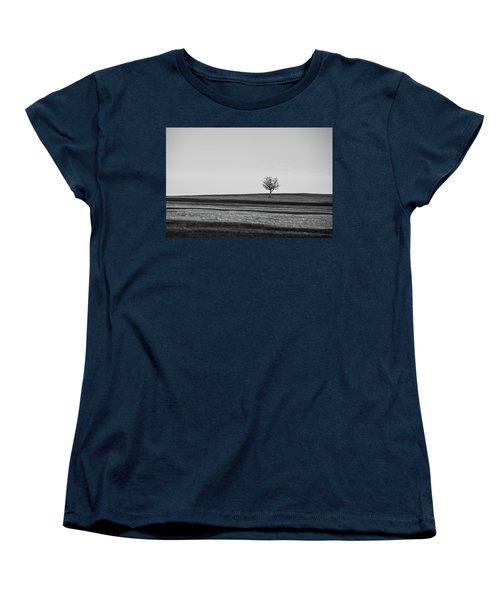Lone Hawthorn Tree Iv Women's T-Shirt (Standard Cut) by Helen Northcott
