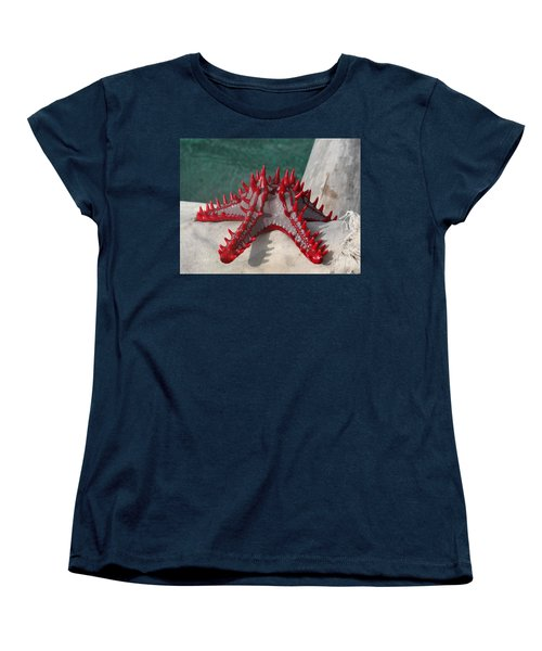 Lone Red Starfish On A Wooden Dhow 3 Women's T-Shirt (Standard Fit)