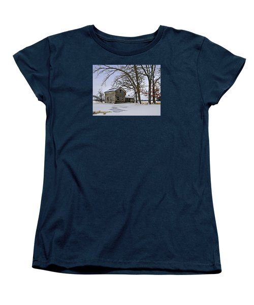 Women's T-Shirt (Standard Cut) featuring the photograph Lonely And Abandoned by Judy Johnson