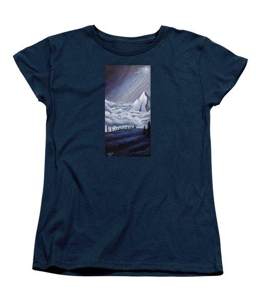 Lonely Mountain Women's T-Shirt (Standard Cut) by Dan Wagner