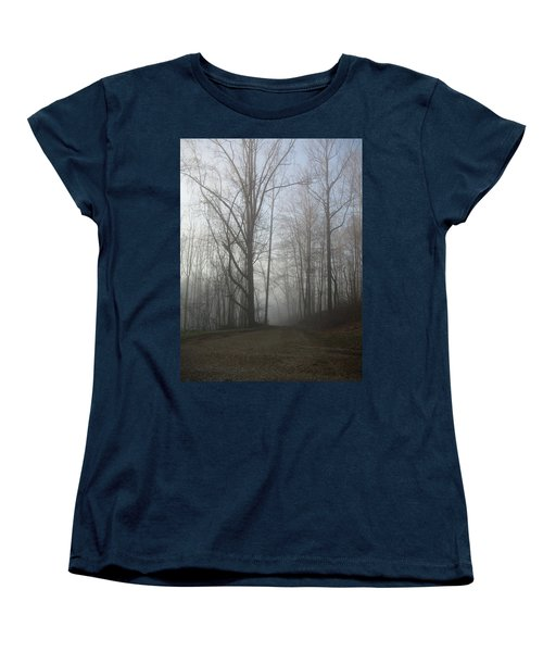 Women's T-Shirt (Standard Cut) featuring the photograph Lonesome Road by Cynthia Lassiter