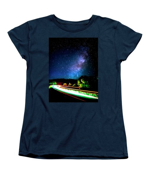 Women's T-Shirt (Standard Cut) featuring the photograph Lonesome Texas Highway by David Morefield