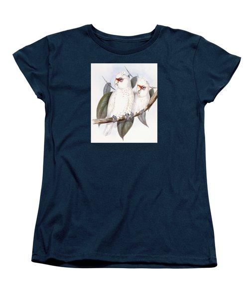 Long-billed Cockatoo Women's T-Shirt (Standard Cut) by John Gould