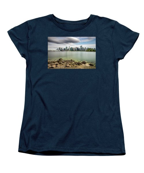 Women's T-Shirt (Standard Cut) featuring the photograph Long Exposure Of Vancouver City by Pierre Leclerc Photography