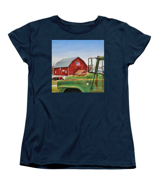 Women's T-Shirt (Standard Cut) featuring the photograph Long May She Wave by DJ Florek