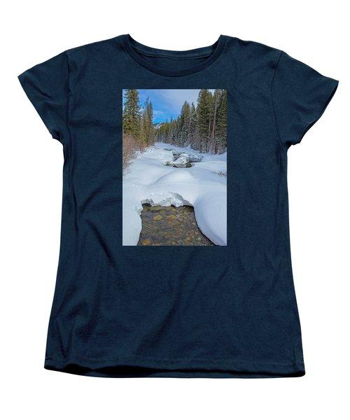 Looking Down The Elk Women's T-Shirt (Standard Cut) by Sean Allen