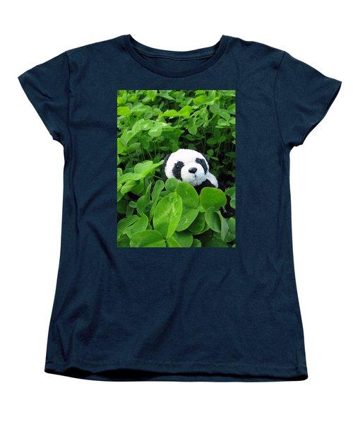 Women's T-Shirt (Standard Cut) featuring the photograph Looking For A Lucky Clover by Ausra Huntington nee Paulauskaite