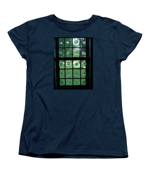 Looking Thru Bubble Glass Window Women's T-Shirt (Standard Cut) by Catherine Gagne