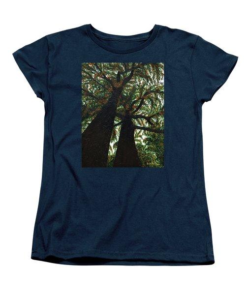 Looking Up Women's T-Shirt (Standard Cut) by Donna Manaraze