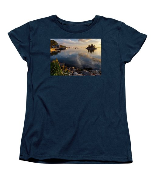 Women's T-Shirt (Standard Cut) featuring the photograph Lookout Point, Harpswell, Maine  -99044-990477 by John Bald