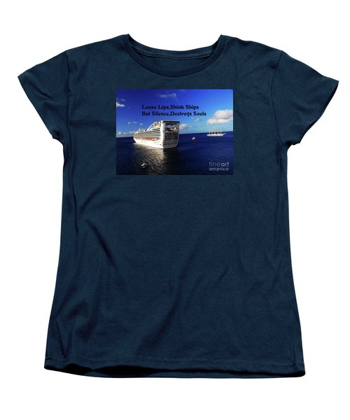 Women's T-Shirt (Standard Cut) featuring the photograph Loose Lips by Gary Wonning