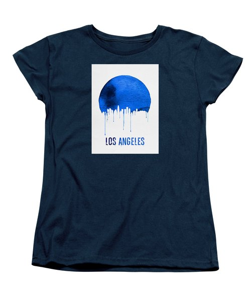 Los Angeles Skyline Blue Women's T-Shirt (Standard Cut) by Naxart Studio