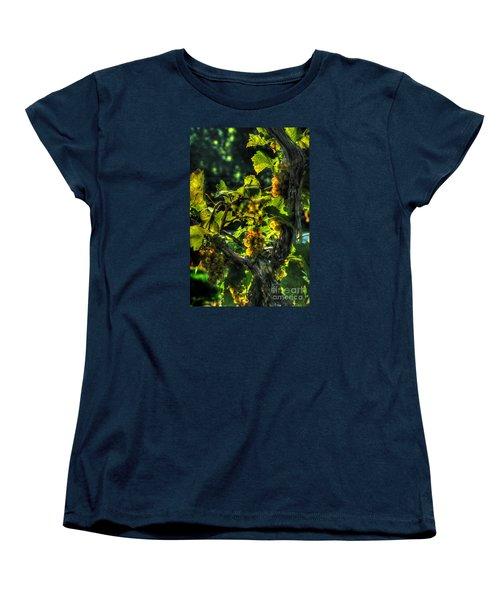 Women's T-Shirt (Standard Cut) featuring the digital art Lost Creek Chardonel by William Fields