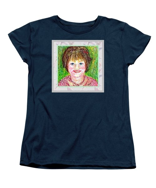 Women's T-Shirt (Standard Cut) featuring the pastel Lost In Childhood by Desline Vitto