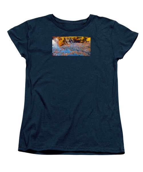 Women's T-Shirt (Standard Cut) featuring the photograph Lost In The Pond by Spyder Webb