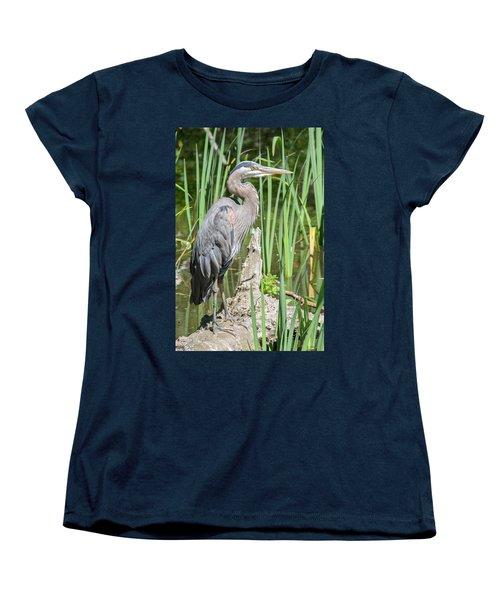 Lost Lagoon Heron Women's T-Shirt (Standard Cut) by Ross G Strachan
