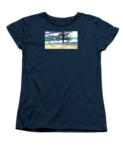 Women's T-Shirt (Standard Cut) featuring the painting Lost Swan by Patricia Griffin Brett