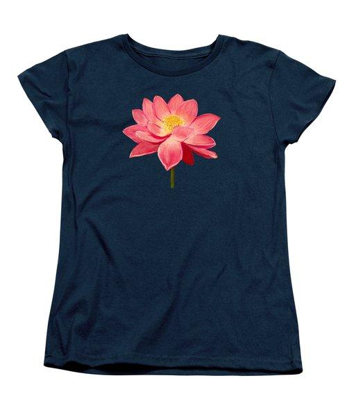 Lotus Flower Women's T-Shirt (Standard Cut) by Anastasiya Malakhova