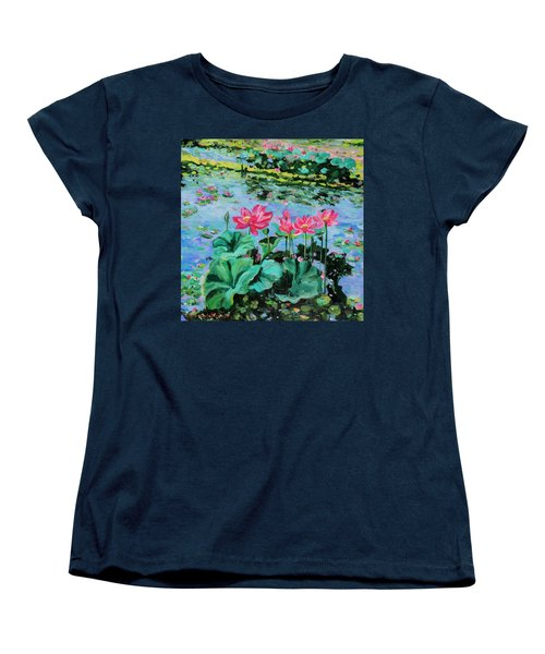 Lotus Women's T-Shirt (Standard Cut) by Alexandra Maria Ethlyn Cheshire