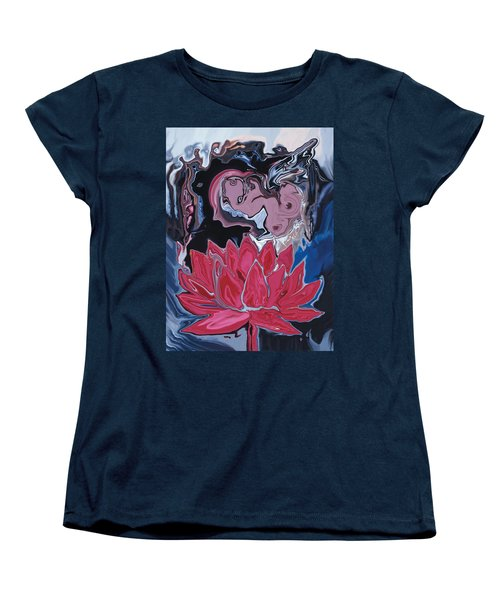Lotus Love Women's T-Shirt (Standard Cut) by Rabi Khan