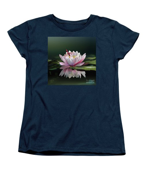 Lotus Meditation Women's T-Shirt (Standard Cut) by Rosa Cobos