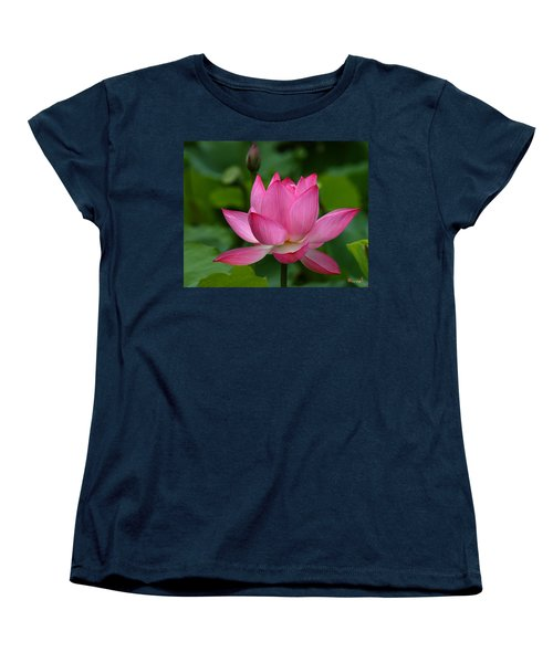 Lotus--shades Of Past And Future Dl029 Women's T-Shirt (Standard Cut) by Gerry Gantt
