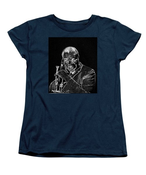 Louis Armstrong Women's T-Shirt (Standard Cut) by Charles Shoup
