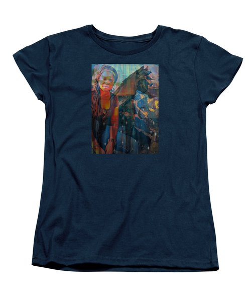 Loulou And Me Women's T-Shirt (Standard Cut) by Fania Simon