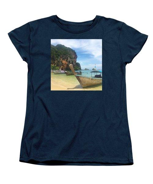 Lounging Longboats Women's T-Shirt (Standard Fit)