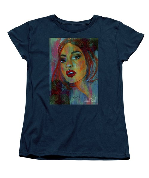 Women's T-Shirt (Standard Cut) featuring the painting Lourdes At Twilight by P J Lewis