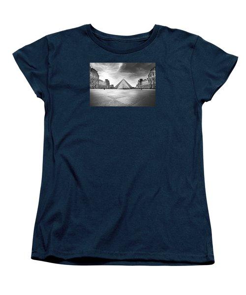 Louvre Bw Women's T-Shirt (Standard Cut) by Ivan Vukelic