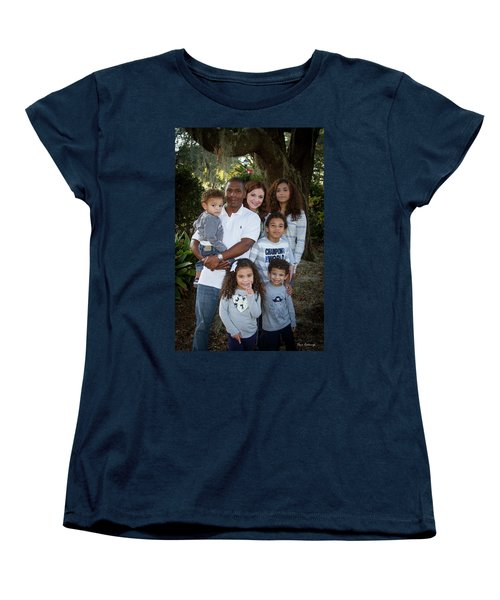 Women's T-Shirt (Standard Cut) featuring the photograph Love Demonstrated James Ingram Family Art by Reid Callaway