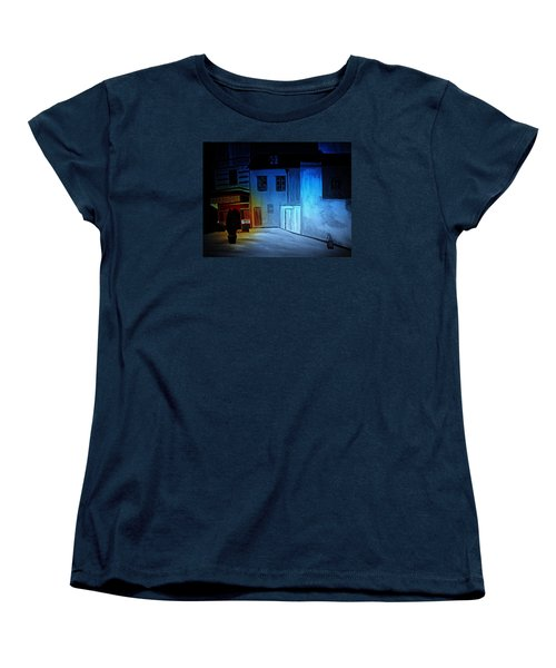 Women's T-Shirt (Standard Cut) featuring the painting Love In San Fele by Bill OConnor