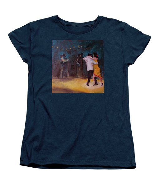 Women's T-Shirt (Standard Cut) featuring the painting Love In The Spotlight by Keith Thue