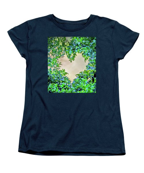 Women's T-Shirt (Standard Cut) featuring the photograph Love Leaves by Az Jackson
