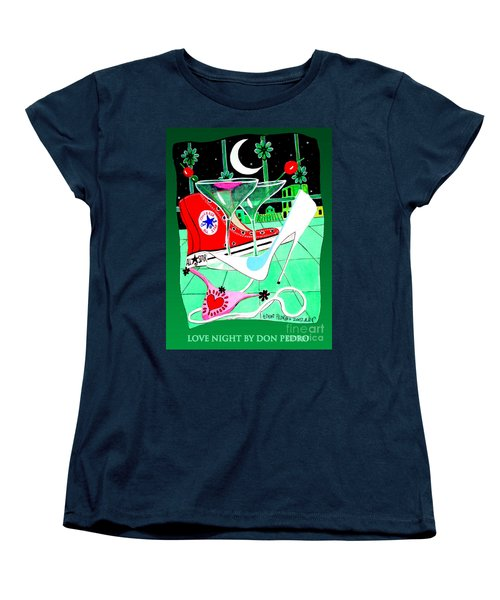 Women's T-Shirt (Standard Cut) featuring the painting Love Night by Don Pedro De Gracia