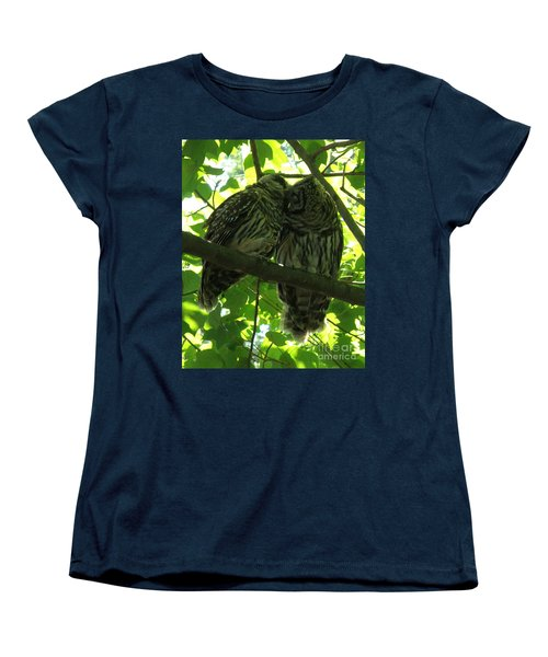 Love Owls Women's T-Shirt (Standard Cut) by Lainie Wrightson