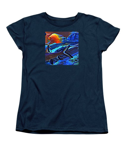 Love The Sea Women's T-Shirt (Standard Cut) by Peggy Stokes
