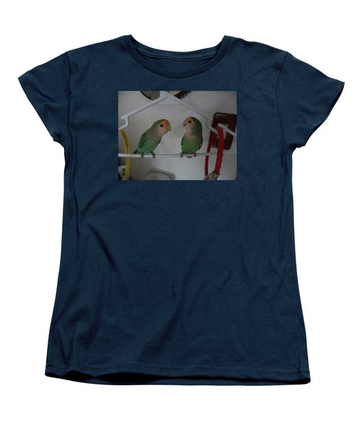 Lovebirds Women's T-Shirt (Standard Cut) by Val Oconnor