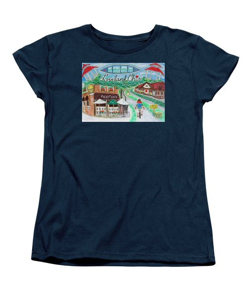 Women's T-Shirt (Standard Cut) featuring the painting Loveland Ohio by Diane Pape