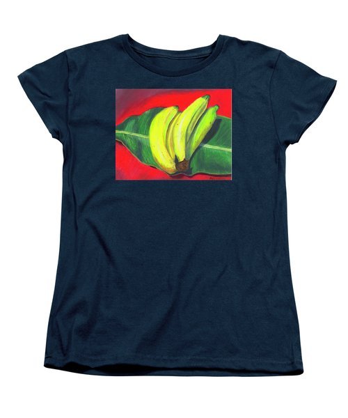 Women's T-Shirt (Standard Cut) featuring the painting Lovely Bunch Of Bananas by Arlene Crafton