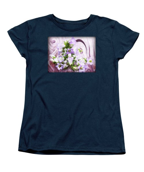 Women's T-Shirt (Standard Cut) featuring the mixed media Lovely Spring Flowers by Gabriella Weninger - David