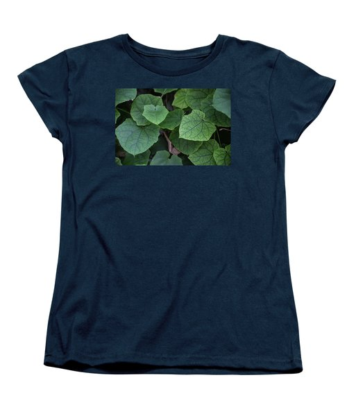 Low Key Green Vines Women's T-Shirt (Standard Cut) by Jingjits Photography