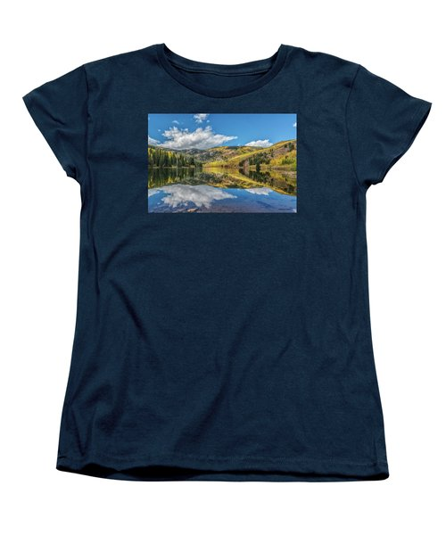 Lower Cataract Lake Aspen Women's T-Shirt (Standard Cut) by Stephen Johnson