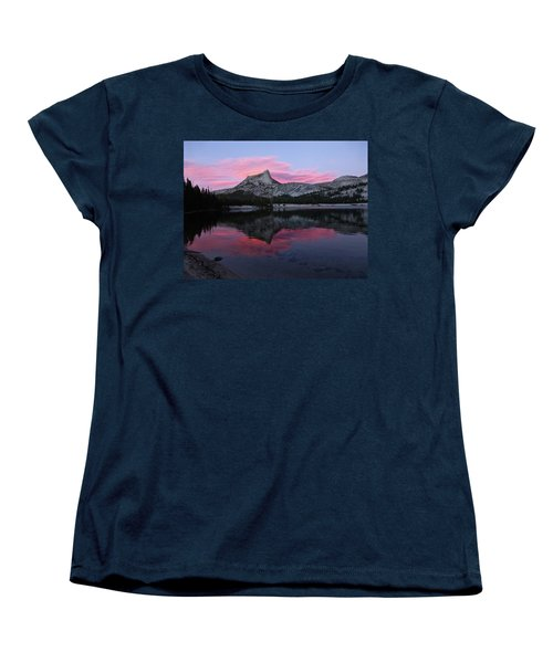 Lower Cathedral Lake Sunset Women's T-Shirt (Standard Cut) by Amelia Racca